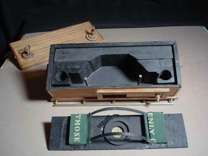 medium format camera with curved film plane for greater image distortion