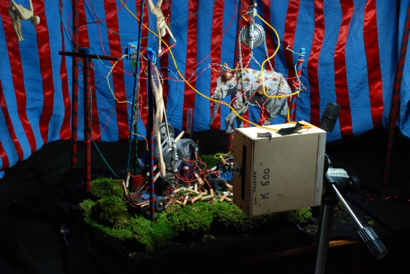 """4x5 Camera test w/ """"Topsy's Turvey"""" Diorama"""