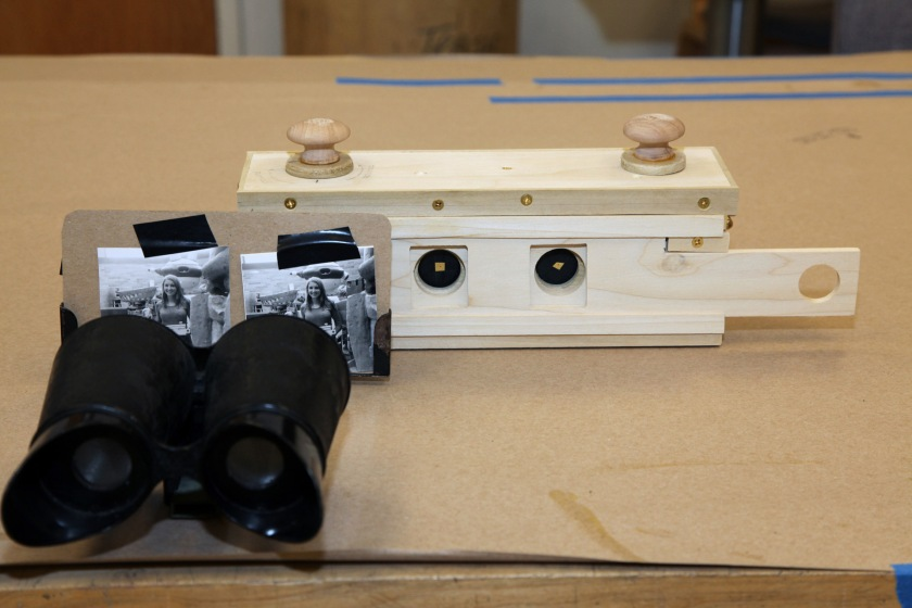 Stereo Camera w/ test image and stereo viewer, 2012